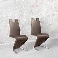 stoel met bekleding van imitatieleer bruin