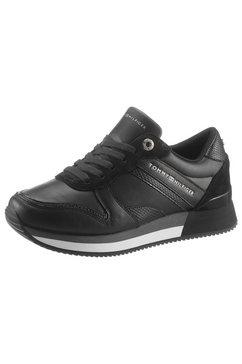tommy hilfiger sneakers met sleehak »active material mix sneaker« zwart