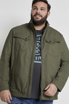 tom tailor men plus blousonjack blousonjas met borstzakken groen