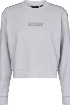 calvin klein performance sweatshirt pw - pullover met reflecterende contrastdetails grijs