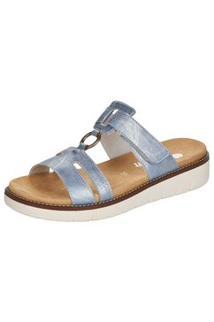 remonte slippers in zomerse look blauw