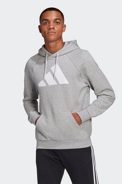 adidas performance hoodie »m fi hood« grijs