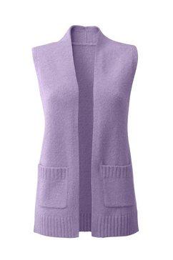 classic inspirationen mouwloos vest in modieus, lang model paars