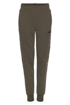 puma joggingbroek graphic sweatpants fleece groen