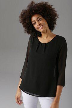 aniston selected blouse zonder sluiting met rugsplit zwart