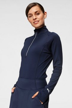 puma shirt met lange mouwen w rotation 1-4 zip blauw