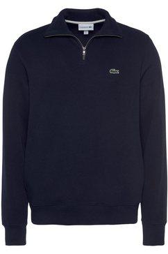lacoste sweatshirt met opstaande kraag blauw