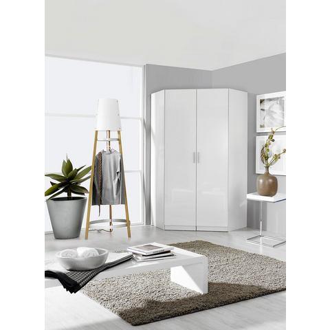 Hoekkast CELLON 2 deuren wit-hoogglans wit