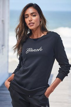 bench. sweatshirt met glanzend logoborduursel zwart