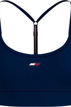 tommy sport sportbustier light intensity lbr racer bra met smalle bandjes met minder steunend vermogen blauw