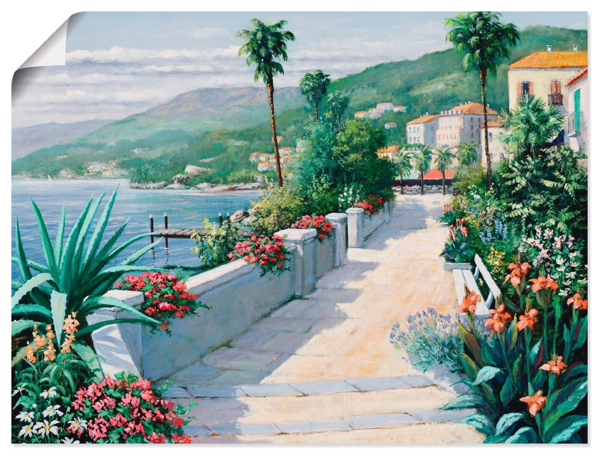 Artland Artprint Costa del Pietro I in vele afmetingen & productsoorten -artprint op linnen, poster, muursticker / wandfolie ook geschikt voor de badkamer (1 stuk) bij OTTO online kopen