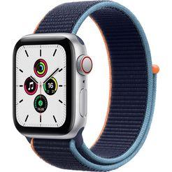apple smartwatch se gps + cellular, aluminium kast met sport loop 40 mm inclusief oplaadstation (magnetische oplaadkabel) blauw