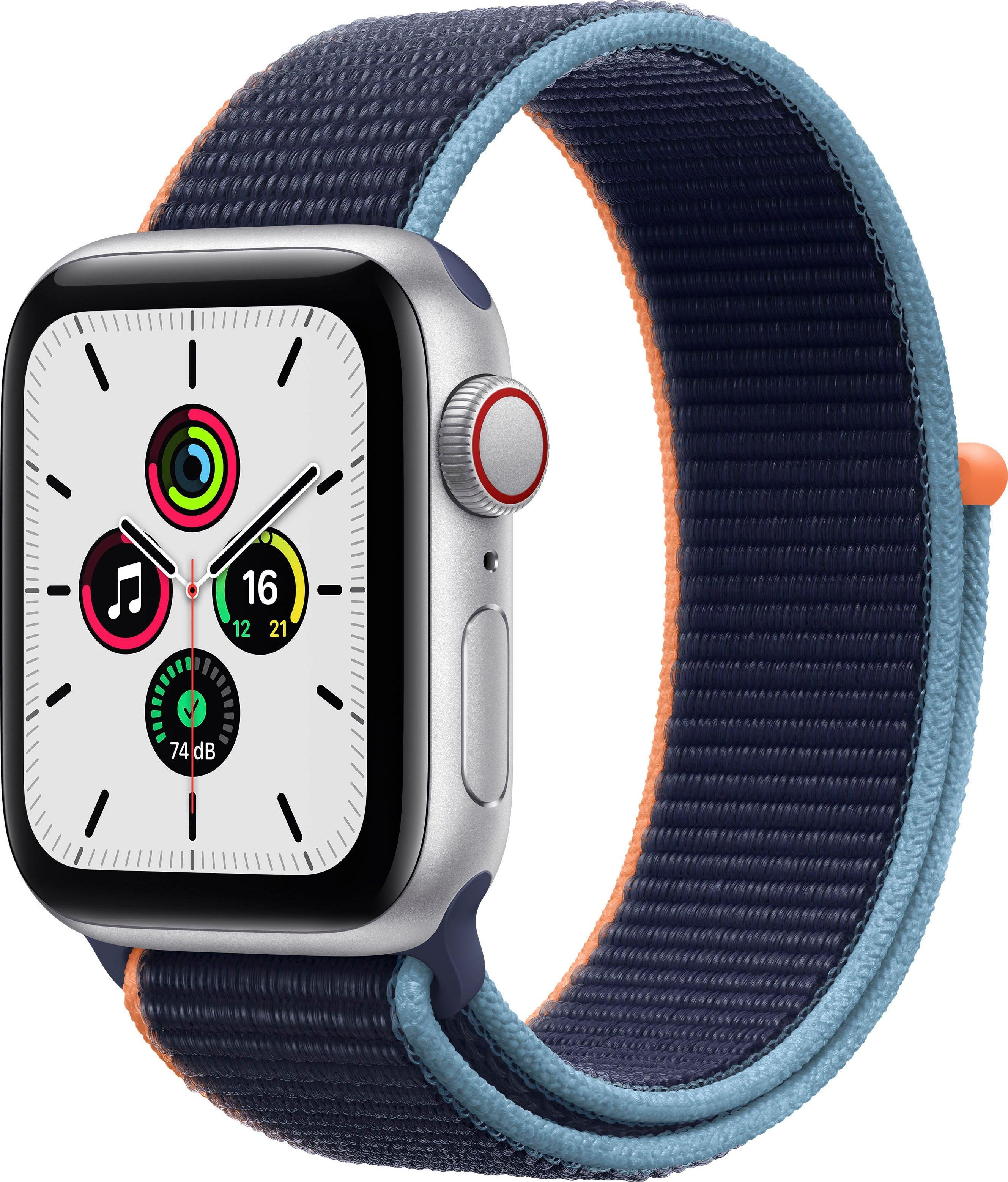 Apple smartwatch SE gps + Cellular, aluminium kast met sport loop 40 mm inclusief oplaadstation (magnetische oplaadkabel) veilig op otto.nl kopen