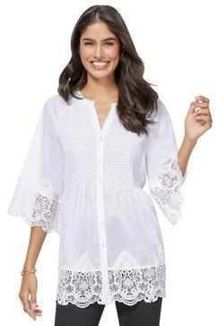 alessa w. kanten blouse wit