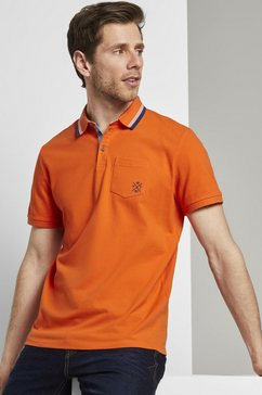 tom tailor poloshirt »poloshirt mit brusttasche« oranje