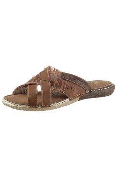 dockers by gerli slippers in zomerse look bruin