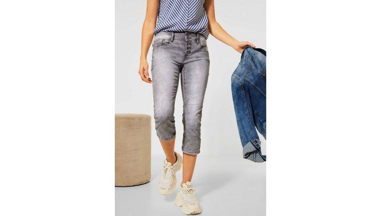 STREET ONE 7/8 jeans met borduursel bij de zakken