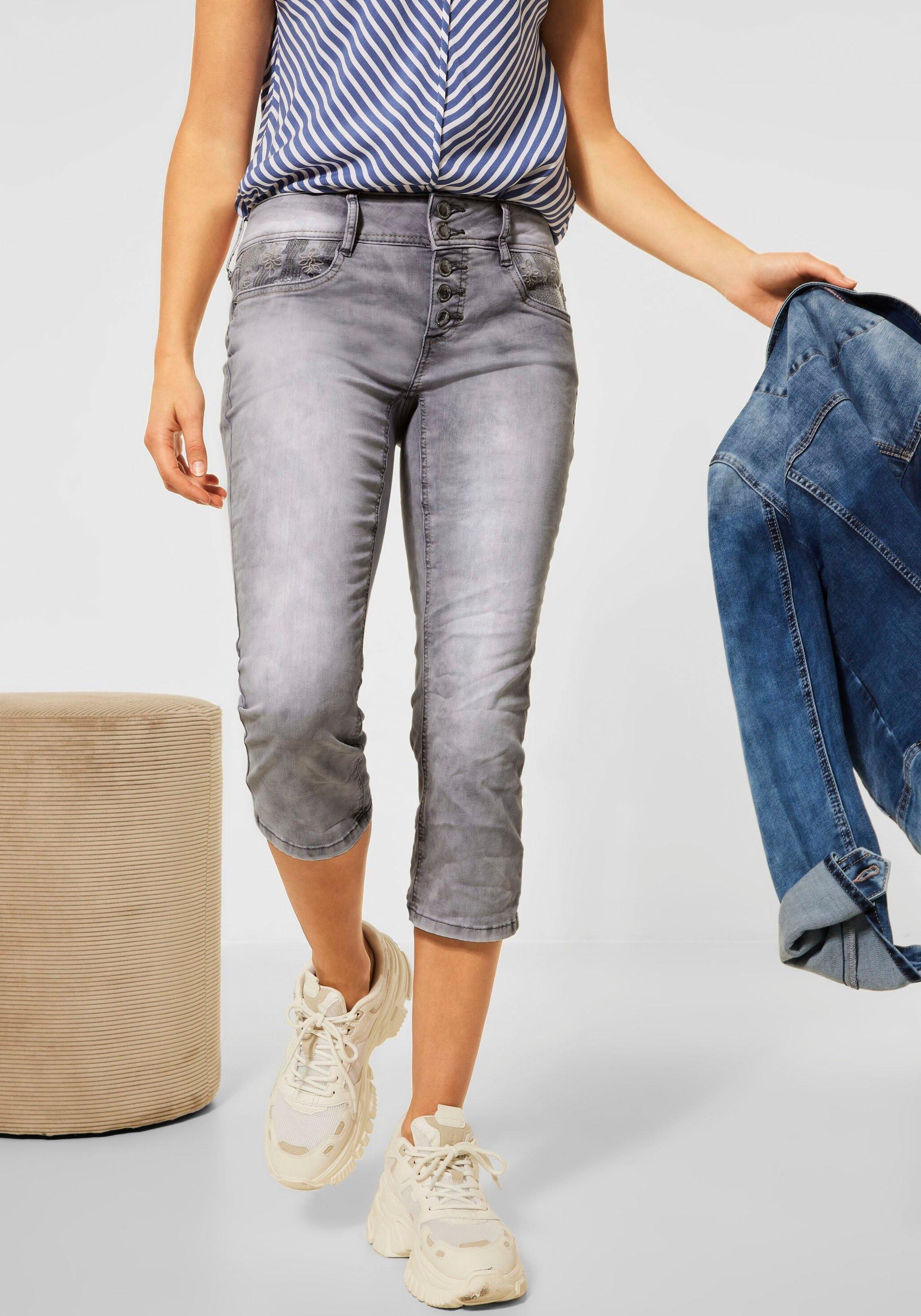 STREET ONE 7/8 jeans Style Crissi met borduursel bij de zakken - verschillende betaalmethodes