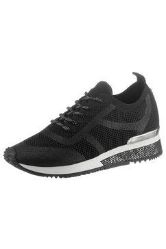 la strada sneakers fashion sneaker met beleg in reptiel-look zwart