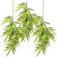 creativ green kunstplant bamboetak, hangend set van 3 (3 stuks) groen
