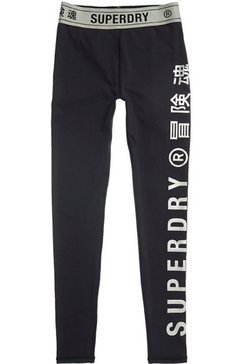 superdry sport functionele legging »training elastic leggings« zwart