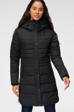 polarino winterjas met een grote capuchon zwart