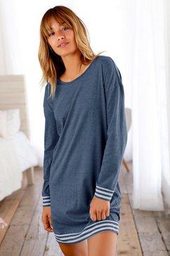 arizona nachthemd met gestreepte boorden blauw