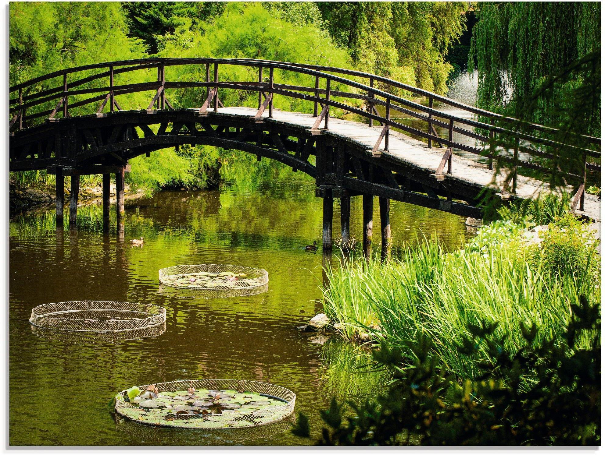 Artland print op glas »Gartenbrücke« veilig op otto.nl kopen