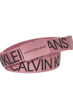 calvin klein koppelriem canvas logo belt roze