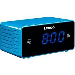 lenco wekkerradio cr-520 blauw