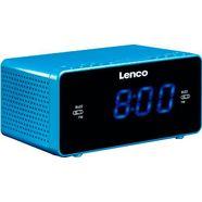 lenco wekkerradio »cr-520 (fm-tuner) blauw