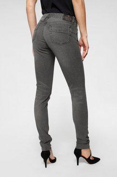 herrlicher slim fit jeans »touch slim« grijs