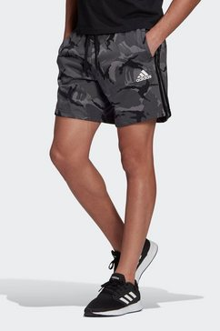 adidas performance trainingsshort essentials french terry camouflage grijs