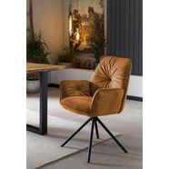 salesfever kuipstoel eetkamerstoel 360° draaiende functie, draaistoel, stoel met armleuningen (set, 1 stuk) goud