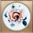 queence artprint op acrylglas »blumen« paars