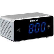 lenco wekkerradio »cr-520 (fm-tuner) zilver
