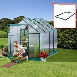 konifera set: tuinkas »sevilla 2500«, bxdxh: 190x250x195 cm, 6 mm groen
