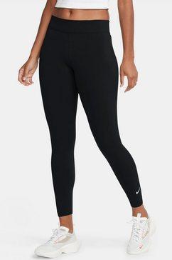 nike sportswear 7-8-legging essential womens 7-8 mid-rise legging zwart