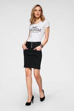 "arizona shirt met print met grote ""denim"" statement print wit"