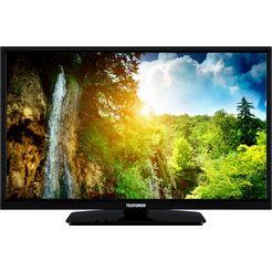 "telefunken led-tv l24h554m1cw, 60 cm - 24 "", hd-ready, smart-tv zwart"