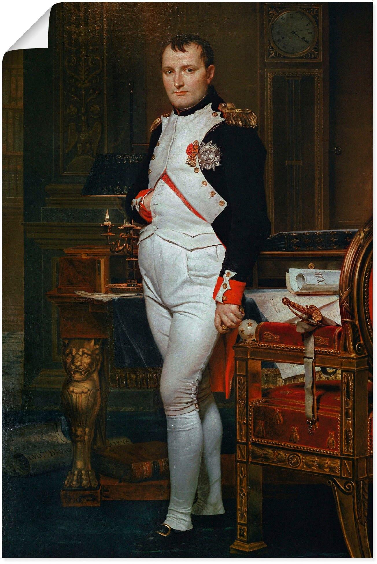 Artland artprint Napoleon I. Bonaparte. 1812 in vele afmetingen & productsoorten - artprint van aluminium / artprint voor buiten, artprint op linnen, poster, muursticker / wandfolie ook geschikt voor de badkamer (1 stuk) goedkoop op otto.nl kopen