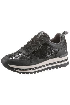 mustang shoes plateausneakers met studs in plateau grijs