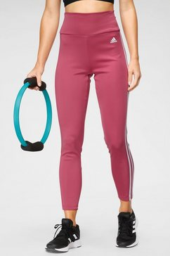 adidas functionele tights designed to move high-rise 3 stripes sport roze
