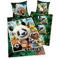 kinderovertrekset selfies wilde dieren met een geweldig jungle dierenmotief multicolor