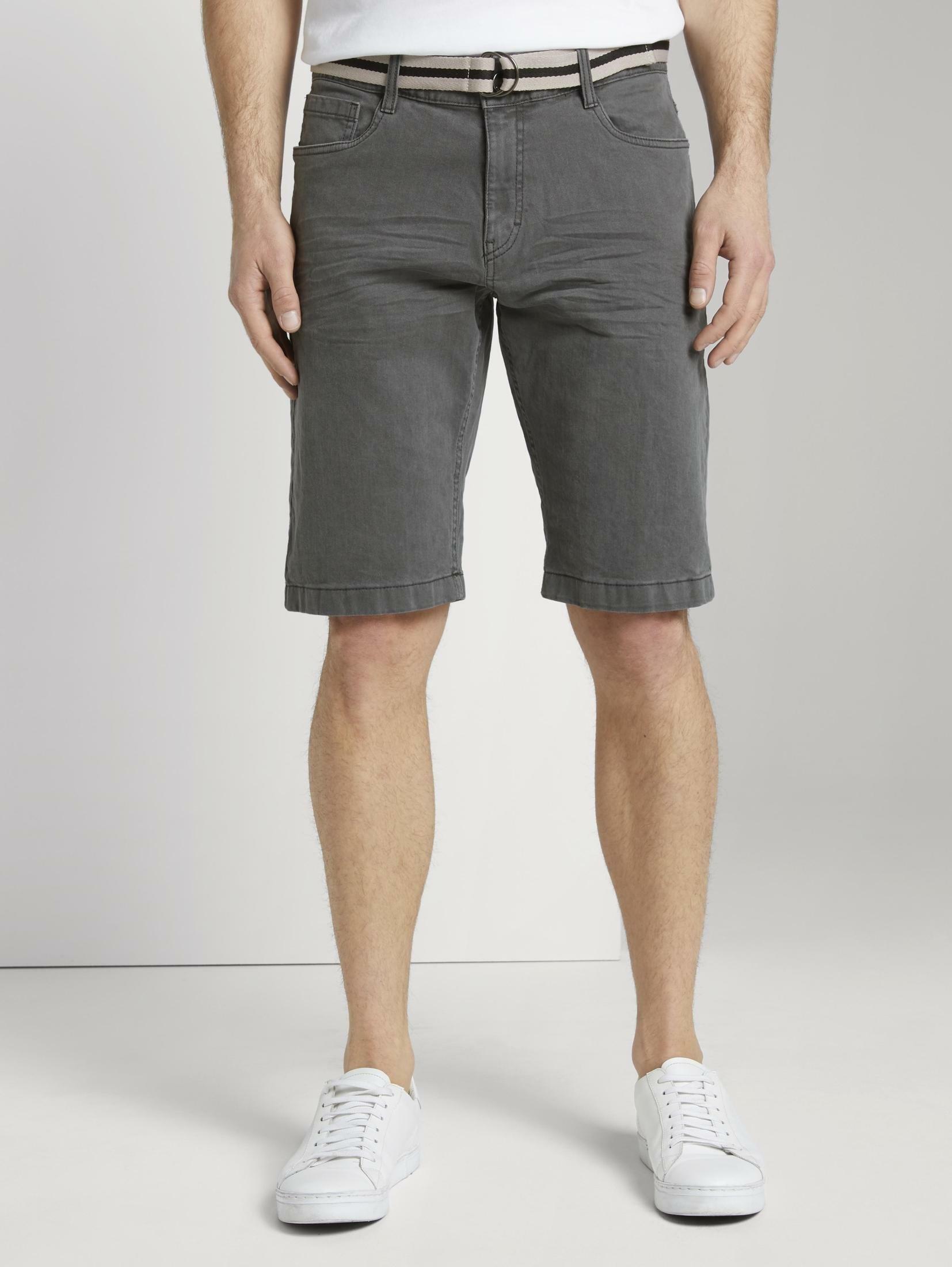Tom Tailor 5-pocketsjeans »Josh Regular Slim Jeans-Shorts mit Gürtel« goedkoop op otto.nl kopen