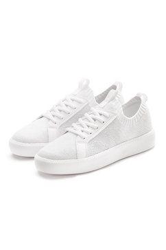 lascana sneakers ultralicht' van textiel wit