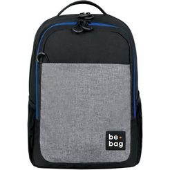 herlitz laptoprugzak be.bag, be.clever, grey melange zwart
