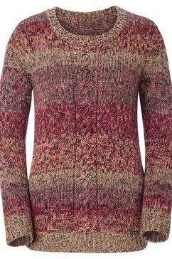 casual looks trui met ronde hals bruin