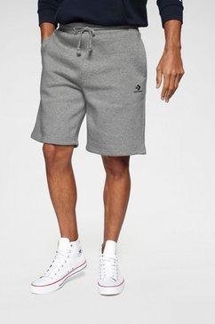 converse sweatshort mens embroidered star chevron shorts grijs