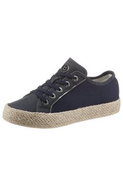 bugatti sneakers eve met gevlochten juterand blauw